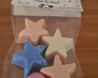 Friends bath muddle, mini soaps, bath, children, soft to the skin, know colorful, playful, various shapes