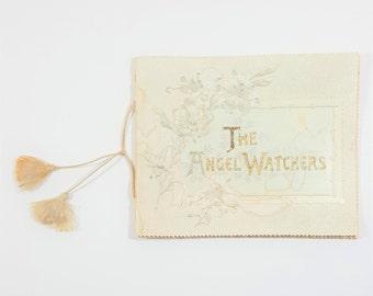 Antique Small Book of Easter Poems. The Angel Watchers by Isa Postgate. Embossed Cover. Chromolithography. Easter Decorations.