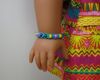 "Beaded Bracelet for 18"" Play Dolls such as American Girl®"