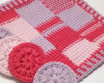 Handmade crochet washcloths and cotton pads  perfect mother's day gift