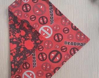 Handkerchief, EDC Hank, Deadpool, Everyday Carry, Deadpool Handkerchief, Red Handkerchief, Comic Book, Marvel, Red Hank,