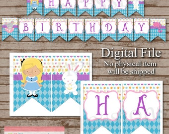 Digital Little Tea Party Princess Birthday Banner