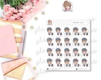 Mailman Belle || Stationary Stickers, Planner Stickers