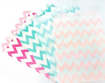 1pack (12pcs/25pcs Per Pack), 13x18cm, Chevron Style Party Bags / Paper Bags / Candy Bags
