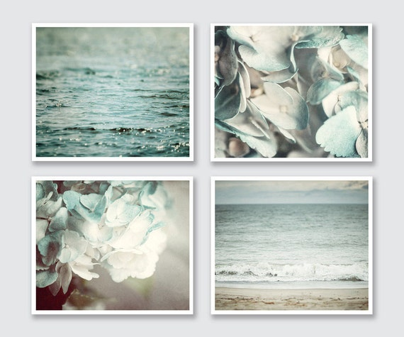 Pastel Aqua Bathroom Wall Decor Print Set Of 4 Teal Bathroom