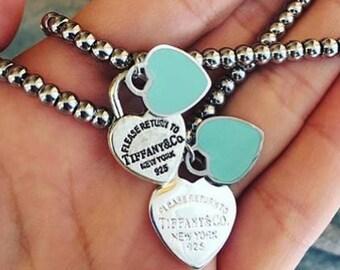 Steel bracelets with Heart