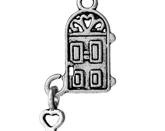 10 HOME SWEET HOME Door Charms Silver Tone Pewter Pendants key lock charms   sc 1 st  Etsy & Movable charms | Etsy