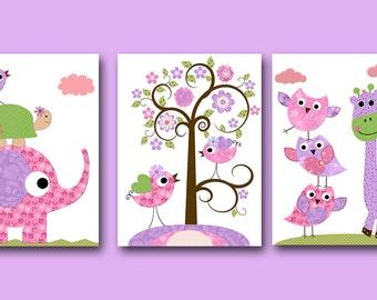 Digital Download Baby Nursery Decor Instant Download Print Kids Art Baby Girl Nursery Art Elephant Nursery Kids Wall Art set of 3 8x10 11X14