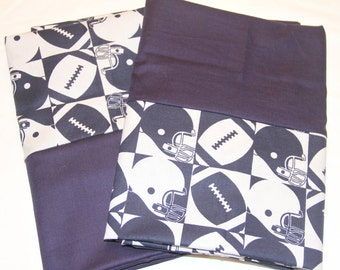 Blue and White Football Pillowcases