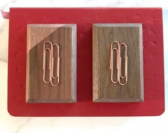 bobbi // walnut magnetic bobby pin and clip keeper