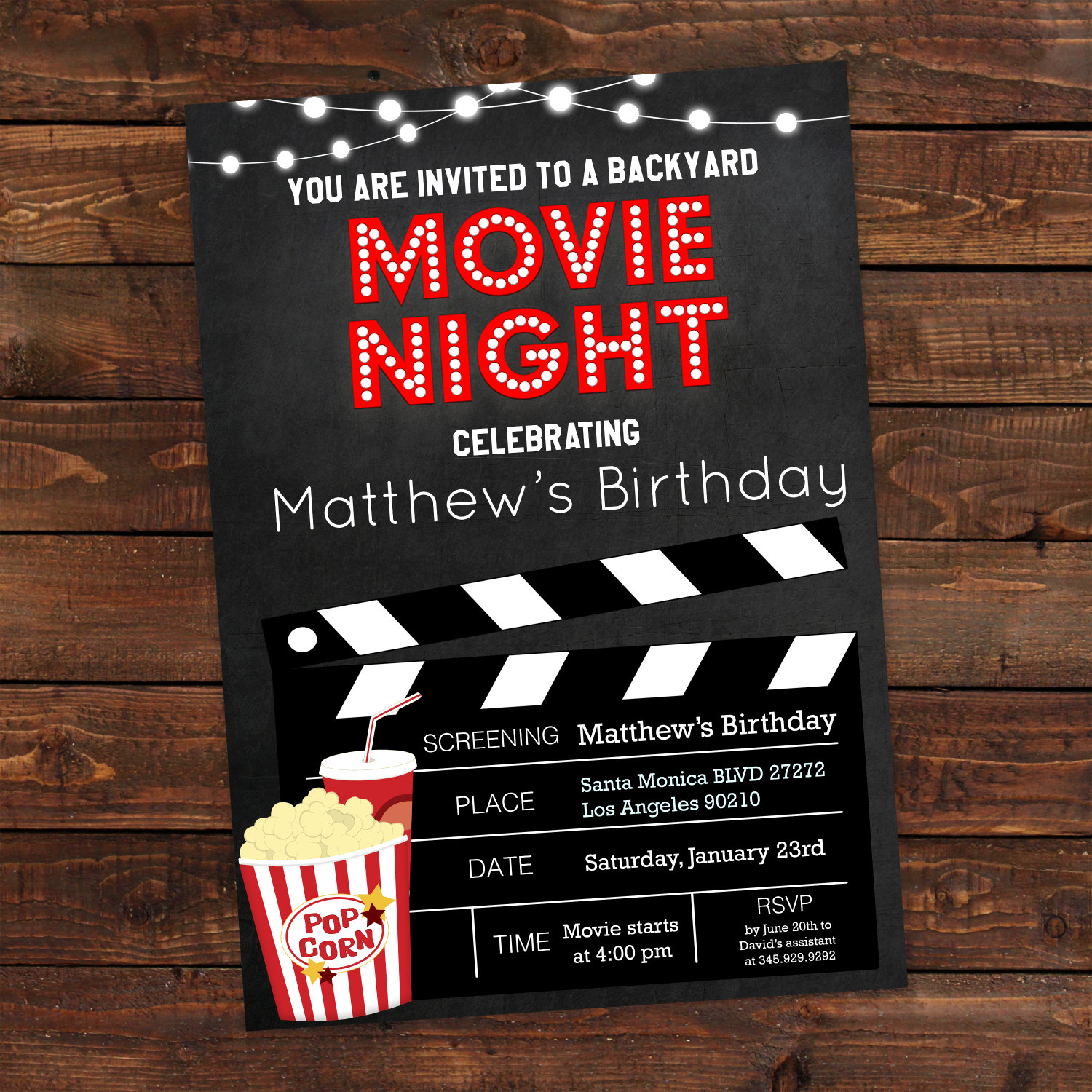 movie party invitation - Daway.dabrowa.co