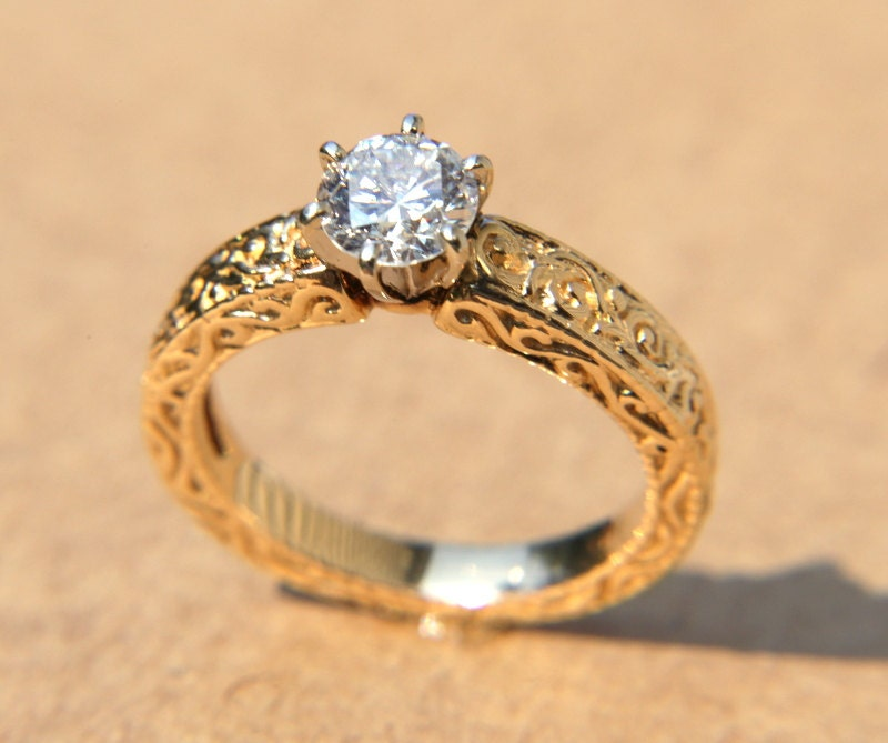 hand jewellery ring engraved collection beauty yellow sale diamond rings engagement blooming large gold flower the upclose