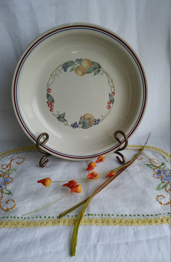 & Corelle Abundance Pie Plate Vintage Corelle Pie Plate