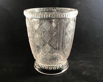 EAPG Elson Glass Co / West Virginia Glass Co Jacob's Coat Spooner