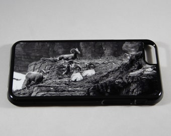 The Outcrop, photo iPhone case, gift for him, Father's Day gift, animal cell phone case, bighorn sheep, rams, goats, Glacier National Park