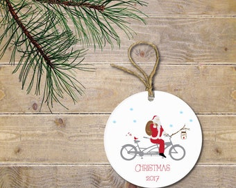 Personalized Christmas Ornament, Santa Christmas Ornament, Cardinal, Santa, Bikes, Personalized Christmas Ornament, Christmas Ornaments
