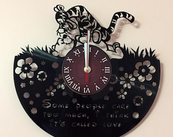 Winnie the Pooh gift Clock  size of the Vinyl Record is 12 inches / 30 cm  gift for kids Winnie the Pooh art