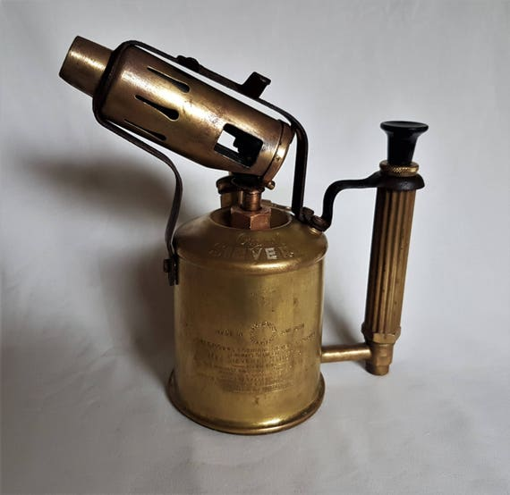Vintage max sievert brass blow torch made in sweden old metal blowtorch retro blow torch vintage tools workshop industrial decor