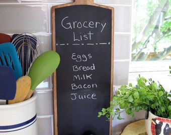"Chalkboard Cutting Board - Free Shipping - 19"" Cutting Board With Blackboard - Chalkboard Menu - Farmhouse Decor"