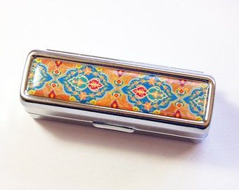 Lipstick case with mirror, Mosaic lipstick case, Lipbalm Case, Lipstick Case, lipstick holder, case for lipstick, Mothers Day Gift (4852)