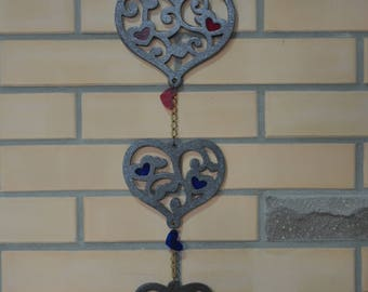 Decor for the house. Wooden hearts