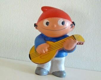 Vintage rubber doll toy ZDF Mainzelmanchen Edi figurine