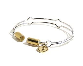Sterling Steel Bracelet, Cuff, Adjustable Bracelet, Brass, Metal Bracelet, BLB 013,