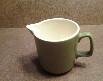 On Sale Avocado Green Made in the USA Serving Pitcher Collectble Kitchen Milk Creamer or Syrup Pitcher