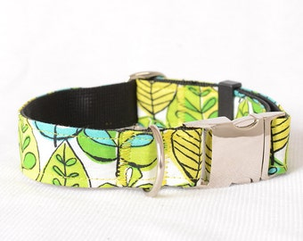 Dog Collar with Personalized Buckle, Fabric 44