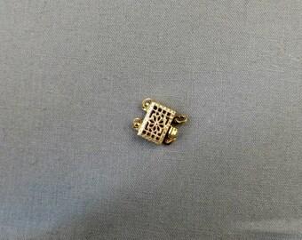 Clasp Gold Filled 14K/20 Filigree Pearl Two Strand Destash #18-027