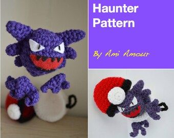 Haunter pattern amigurumi Pokemon pattern PDF crochet