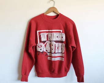 MEDIUM Vintage 1989 San Francisco 49ers Soft Sweatshirt