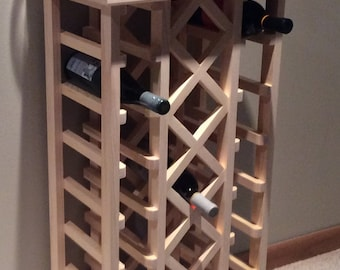 19 Bottle Lattice Style Wine Rack