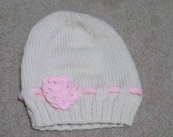 Children's - Babies - Handmade Knitted Beanies.  Acrylic yarn.