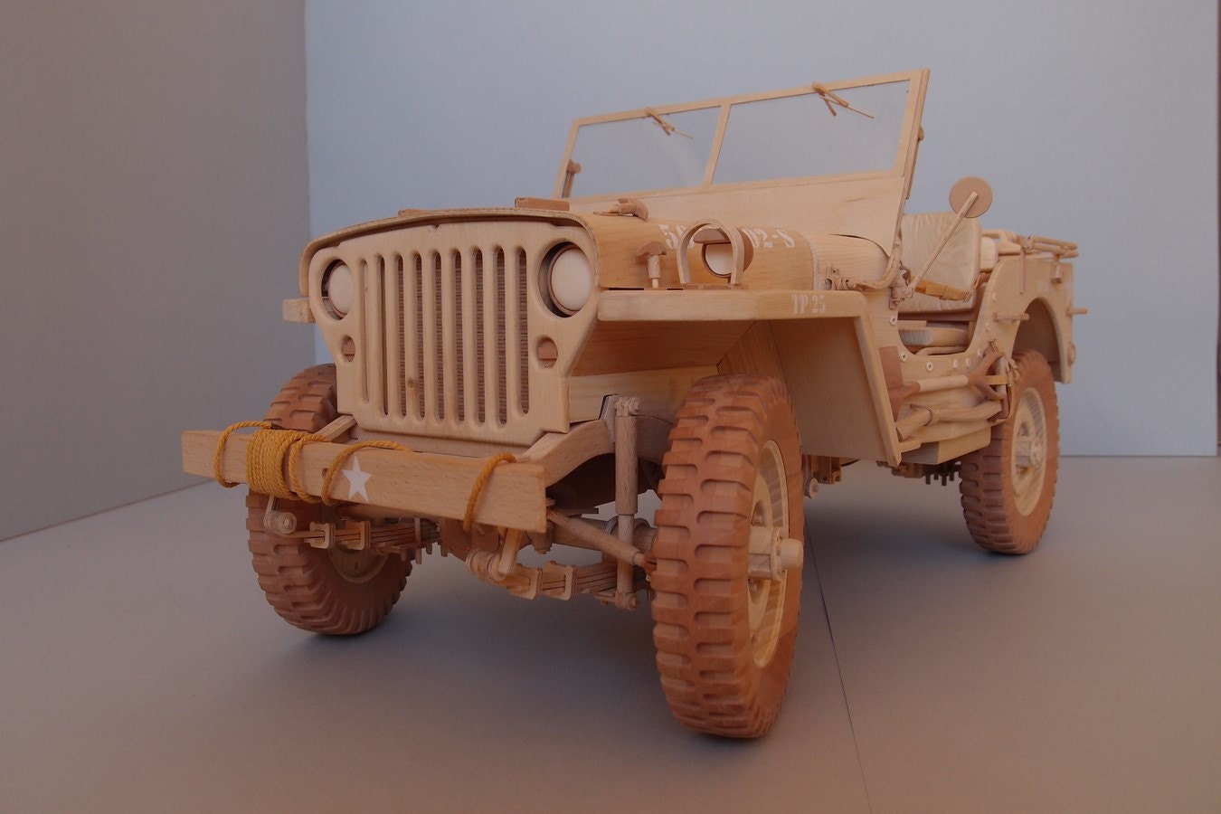 willys mb jeep model from wood scale 1 6. Black Bedroom Furniture Sets. Home Design Ideas