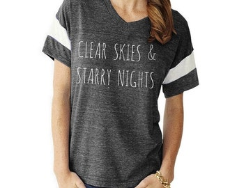 Clear Skies & Starry Nights Slouchy Gym Tee