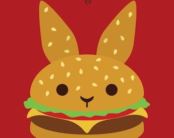 Hamburger BUN - Medium or Small Art Print