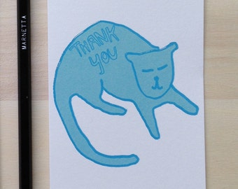 Thank You Other Teal Cat