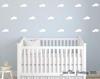 Cloud Wall Decals - Set of 40 Pattern Cloud Decals - Cloud Decals - Nursery Decals