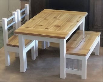 Kids Rustic Farmhouse Table / Activity Table / Desk / Arts And Crafts /  Handmade