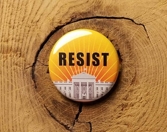 "Resist (1-1/4"" Pinback Button or Magnet)"