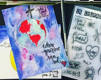 Clear Polymer Stamp Set Paid, Perfect For Bible Journaling or Cardmaking and More