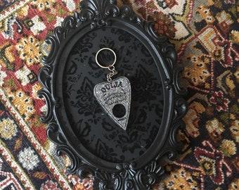 Holo glitter planchette keychain | holographic accessories | ouija keychain