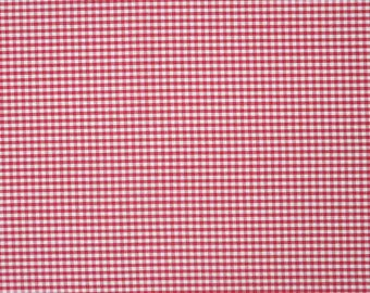 Red Gingham Fabric, Red and White Checked Cotton Fabric, 3 mm check  cotton fabric for patchwork and crafts