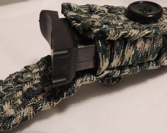 Camo Paracord Pouch with Belt Loop