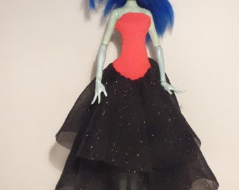 Red and black sparkly party dress