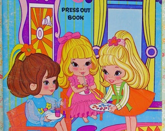 Playhouse Kiddles Press Out Book Paper Dolls