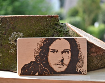 Jon Snow portrait Game of Thrones Pyrography fire painting