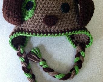 Adorable crochet puppy hat