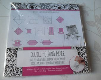 paper folding Doodle 60 sheets 5 x 6 designs/5 x 6 designs to keep yourself